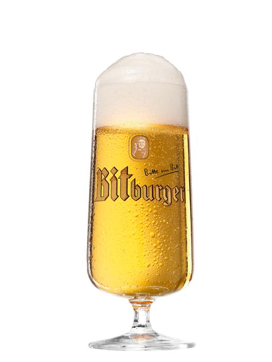 Glas Bier als Freisteller