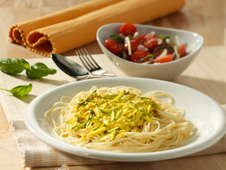 Teller mit Spaghetti