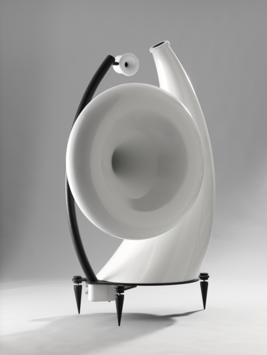 Produktfotografie, futuristischer Hornlausprecher